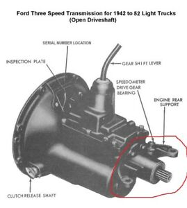 1948-1952 Ford F1 Pickup Open Drive Taishaft