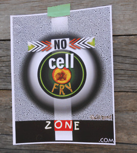 NO CELL FRY ZONE artwork poster