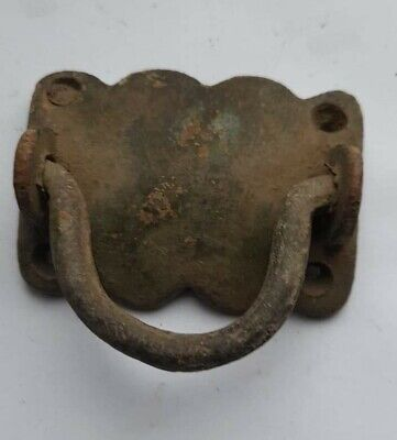 LATE MEDIEVAL BRITISH BRONZE FURNITURE HANDLE 1500-1600 AD
