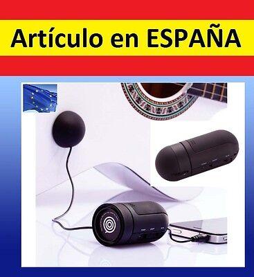 ALTAVOZ por RESONANCIA vibracion mini par Ipod Iphone Smartphone movil samsung