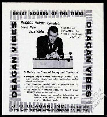 Usado, 1957 Hagood Hardy photo Deagan Vibes vintage print ad segunda mano  Embacar hacia Argentina