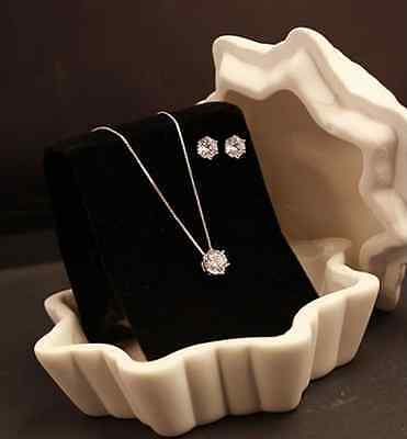925 Sterling Silver *Only You* 2.5 Cts CZ Jewelry Set: Necklace + Earring ()