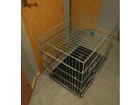 Dog cage crate puppy pen side and front opening