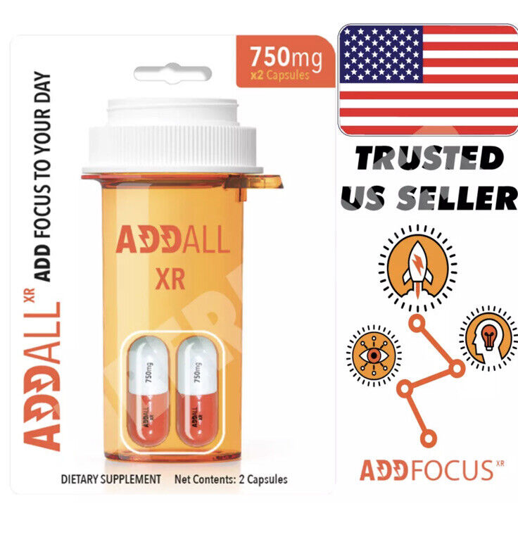 ADDALL XR BRAIN BOOST FOCUS MEMORY CONCENTRATION SUPPLEMENT 750 MG (24 Count)