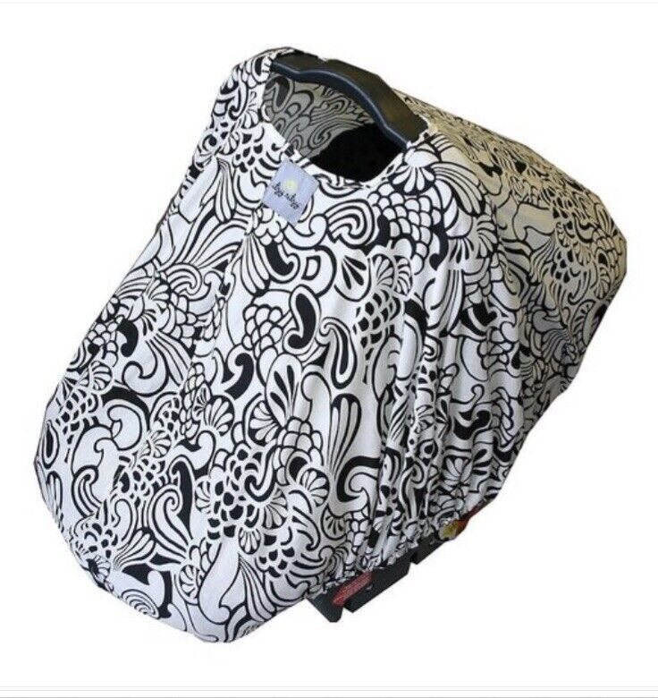 Infant Seat Cover - Itzy Ritzy Black Floral