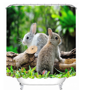Unused bunny shower curtain, $20, water proof , good quality