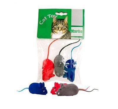 zeug Maus Spielmaus Spielzeug Squeeker Katze Mäuse  (Stück Spielzeug)