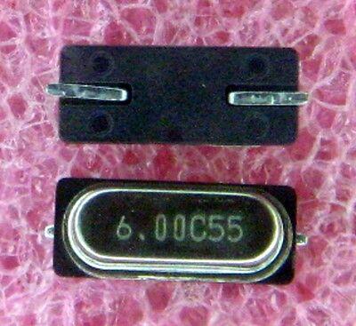 20x 6mhz 6.00mhz 6.0000mhz Smd Crystal Oscillators Hc-49s -20pcs Smt