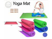 Gym Yoga Mats PVC Excerice Fiteness Soft Non Slip 8 mm Thick