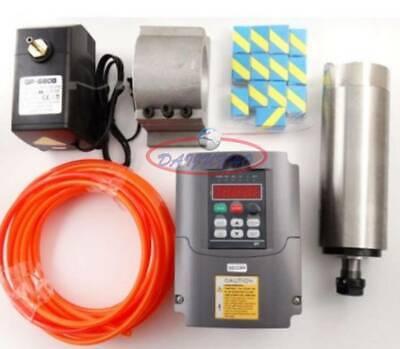 800w Cnc Spindle Motor 110v Water-cooled Er11 1.5kw Vfd Inverterbracket Pump
