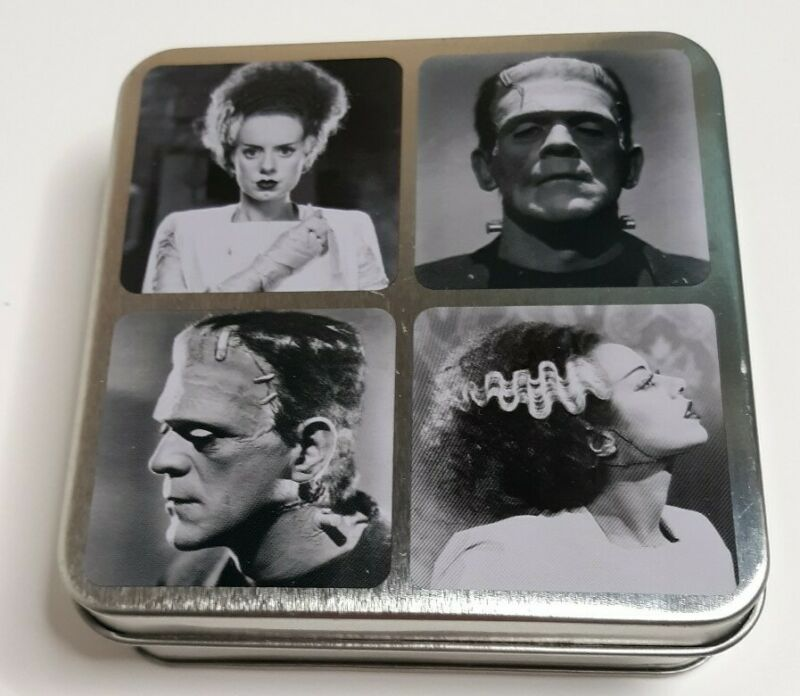 Universal Studios Monsters: Frankenstein & Bride • Set Of 4 Coasters •