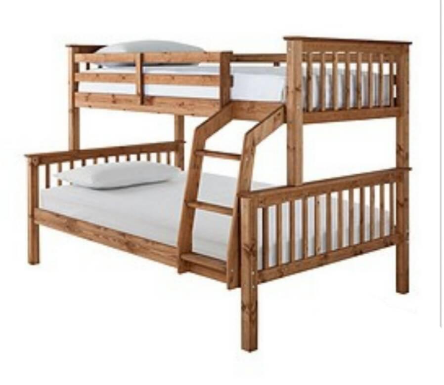 Novara Detachable Trio Bunk Bed Frame Only H 150 4 W 203 2