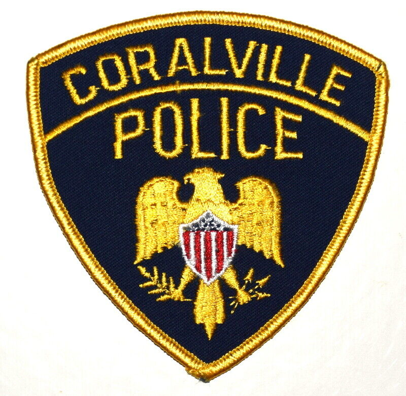 CORALVILLE IOWA IA Sheriff Police Patch EAGLE SHIELD OLIVE BRANCH ARROWS ~
