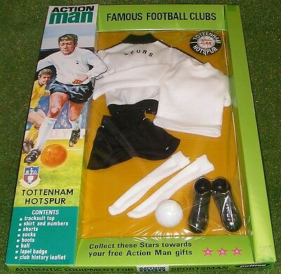 VINTAGE ACTION MAN 40th SPORTSMAN CARDED FOOTBALL CLUB TOTTENHAM HOTSPUR SPURS