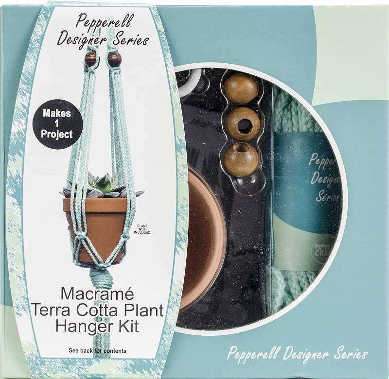 Pepperell Designer Macrame Plant Hanger Kit Mint 725879791735