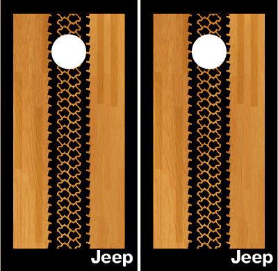 Jeep Cornhole Wraps Vinyl Board Decals Bean Bag Toss Game Sticker
