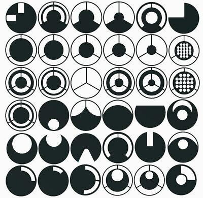 Microscope Df Darkfield Oblique Stop Illumination Filter Set 36pcs
