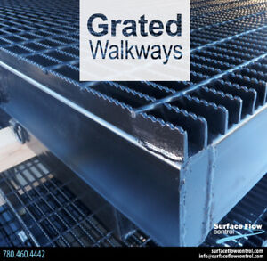 Grated Walkways   Surface Flow Control