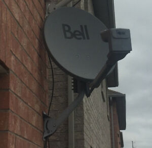 2 Bell Satellite Receiver with dish