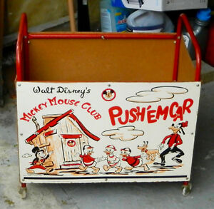 Mickey Mouse toy cart
