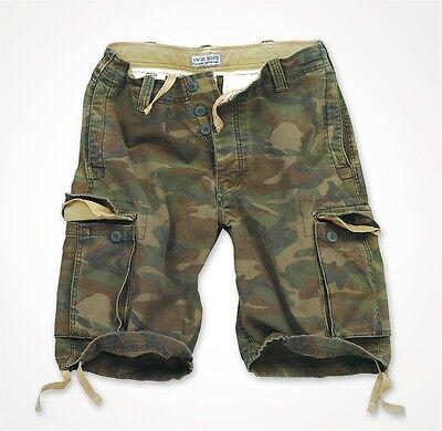 Surplus Uomo Vintage Cargo Shorts Bermuda Pantaloni Corti Army BW Tarn forestale 5596