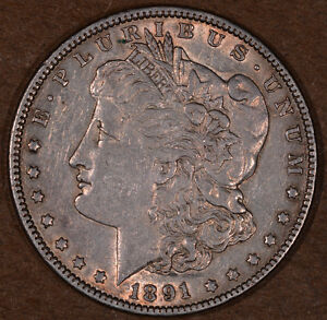 1891 Philly Morgan Silver Dollar (8980-8981)