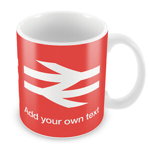 PERSONALISED-British-Rail-Mug-Station-Christmas-Trains-locomotive-Gift-Idea-62