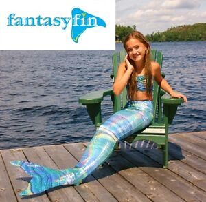 SWIMMABLE MERMAID TAIL & MONOFIN BY FANTASY FIN, MADE IN CANADA