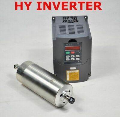 Cnc 1.5kw Er11 Water Cooled Motor Spindle 80mm Diameter Hy Inverter Drive Vfd