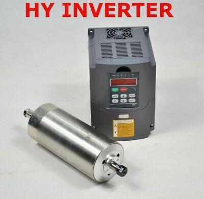 Cnc 1.5kw Er11 Water Cooled Motor Spindle 80mm Diameter Hy Inverter Drive Vfd