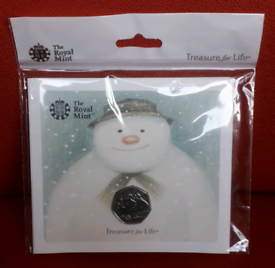 #2 of 8 - The Snowman 2018 50p coin SEALED Royal Mint