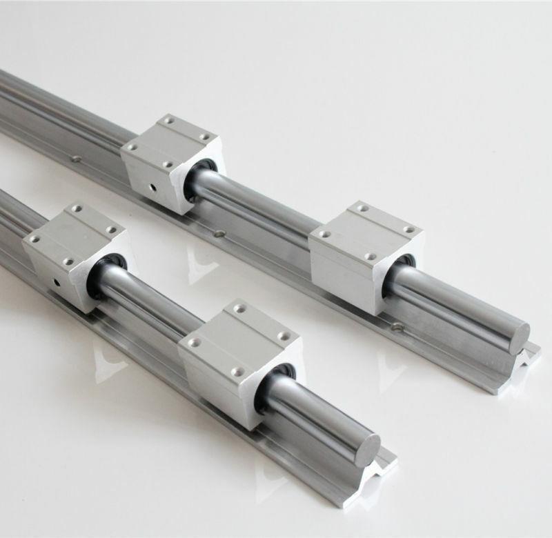 L 4 X SBR12 500mm LINEAR RAIL fully supported SHAFT ROD