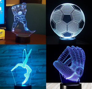 3d optical illusion led lamps with remote control (Designed here