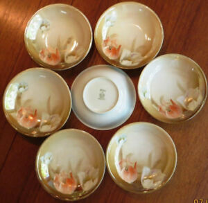 Antique German RS (Royal Silesia) Dessert Bowls