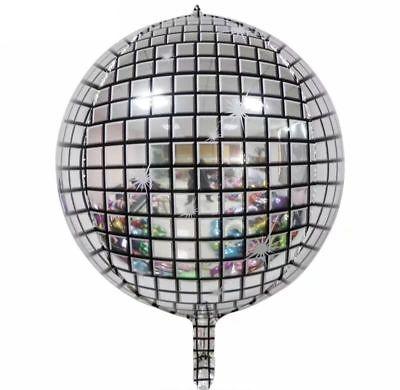1pc 22inch 4D Disco Ball Ballons Metallic Ballon Party Wedding Birthday Decor  - Disco Ball Party Supplies