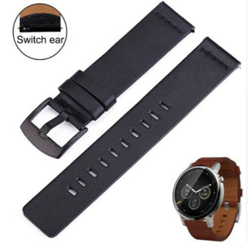 22MM Leather Watchband Quick Release Strap Wrist For Fossil