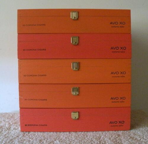 "5 Same Size<>""AVO XO Notturno Tubos "" Wooden Cigar Boxes<>Guitar Size 9""x6""x2"""