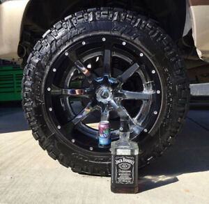 Fuel forged rims and tires and rims