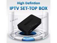 MAG IPTV HD OPENBOX+12 MTHS - £175 -FUTURE OF WATCHING TV WITHOUT SAT DISH OR CABLE