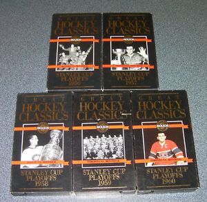 1956-1960 Stanley cup playoff VHS Montreal Canadien