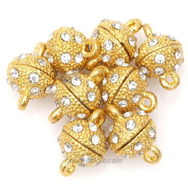 Stunning-Rhinestone-Strong-Magnetic-Clasp-Large-Oval-Bicone-9-5x8mm