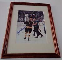 John Bucyk Boston Bruins Stanley Cup Frame Photo Auto Signed COA