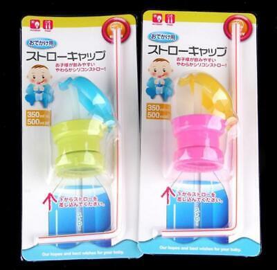 Overflow Kid Bottle Prevent Proof Spout Straw Spill Elderly Cap Water Drink
