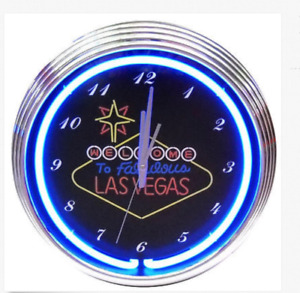 Las Vegas lighted wall clock
