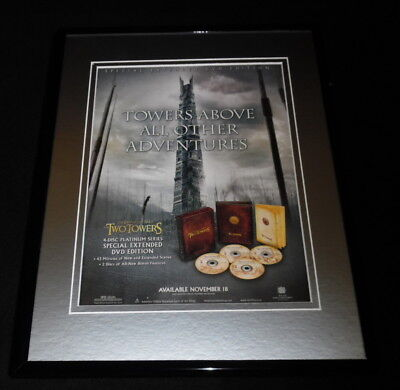 Lord of the Rings Two Towers 2003 Framed 11x14 ORIGINAL Advertisement