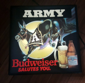 Budweiser old school lighted sign.. beer..neon..mancave