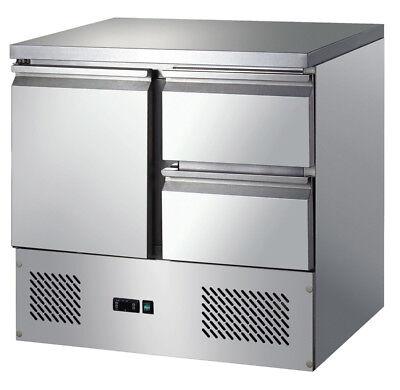 Kühltisch mit 1 Tür und 2 Schubladen 903x700x975