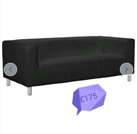 SALE!! 3 seater sofa. Black. HALF PRICE off RRP.