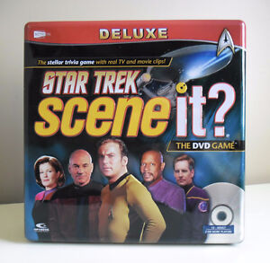 Star Trek Scene It? Deluxe Edition Collectible Tin 100% Complete