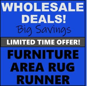 WHOLESALE Deals, AREA RUG, RUNNER, FURNITURE -Limited Time Only
